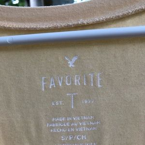 American Eagle Outfitters Tops - Yellow American Eagle Top